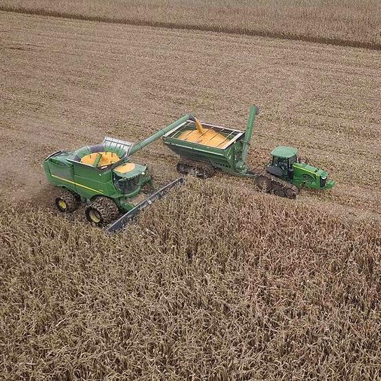 Pivot Bio Harvest Combine Load Auger Wagon Drone photo